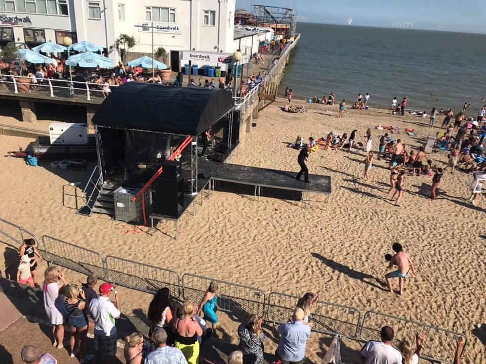 6m x 4m Stage - catwalk beach