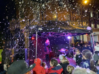 Gazebo Stage - snow