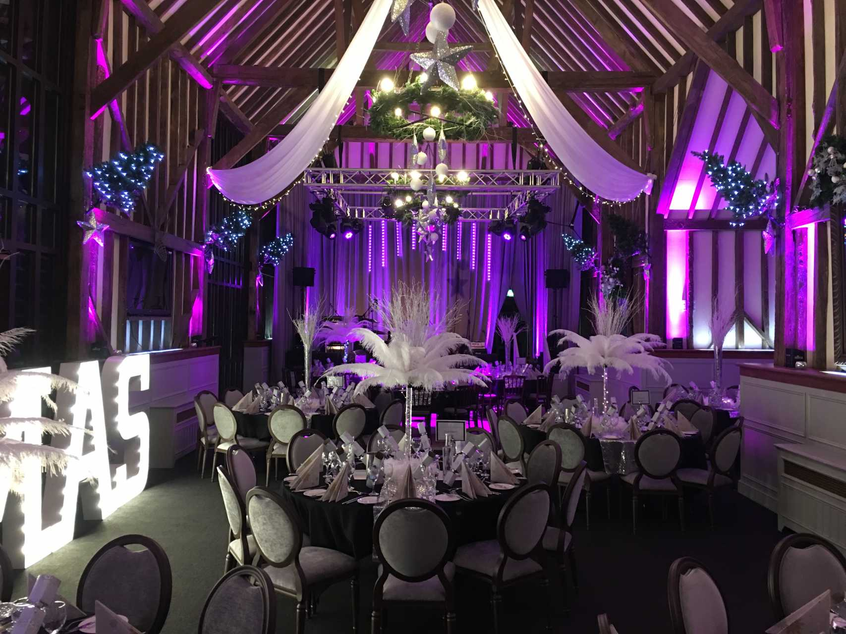 Winter Ball Lighting in Hertfordshire