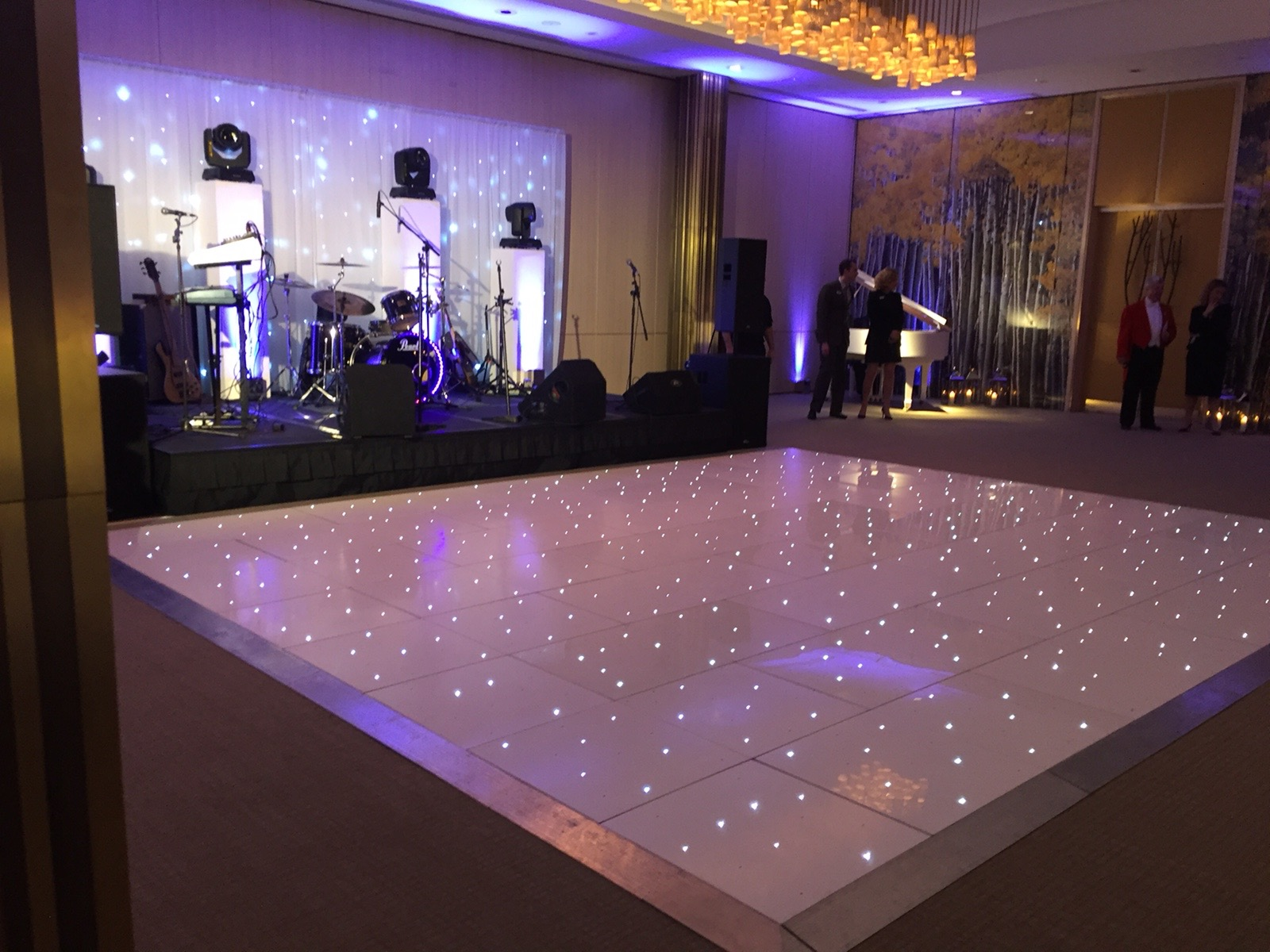 Wedding Lighting, Dance Floor and Custom Bar