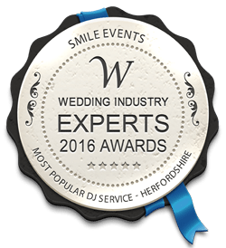 Wedding industry experts 2016 award - Mist popular DJ service, Hertfordshire