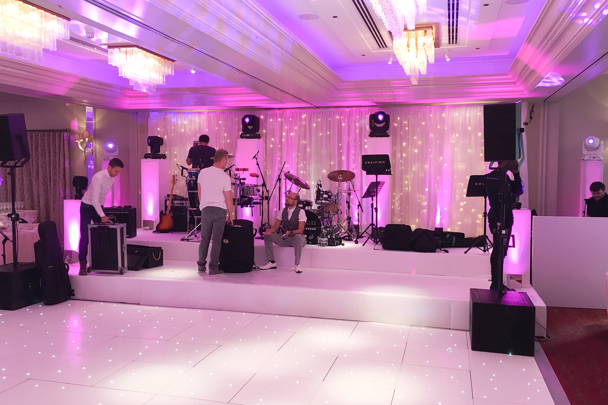 Dance floor hire at Sopwell House